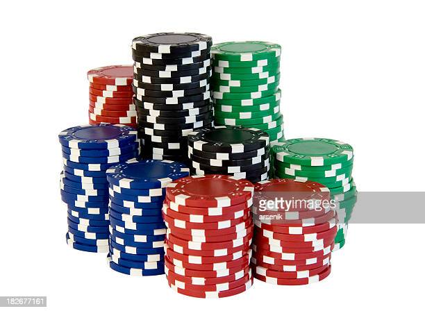 Poker chips stacks