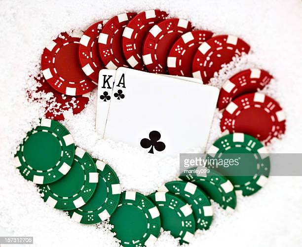 poker Christmas background