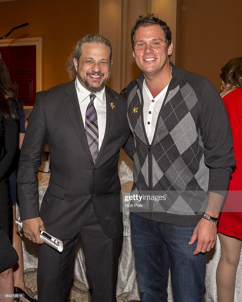 Poker player Joseph Reitman and television host <a gi-track='captionPersonalityLinkClicked' href=/galleries/search?phrase=Bob+Guiney&family=editorial&specificpeople=212916 ng-click='$event.stopPropagation()'>Bob Guiney</a> attend the 7th Annual Ante Up For Autism Event At The St. Regis Monarch Beach Resort on October 12, 2013 in Dana Point, California.