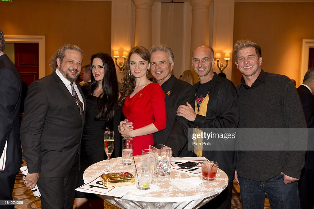Poker player Joseph Reitman, Summer Hanson, actors Melissa Biethan, Tony Denison, <a gi-track='captionPersonalityLinkClicked' href=/galleries/search?phrase=David+Marciano&family=editorial&specificpeople=693508 ng-click='$event.stopPropagation()'>David Marciano</a> and Kenny Johnson attend the 7th Annual Ante Up For Autism Event At The St. Regis Monarch Beach Resort on October 12, 2013 in Dana Point, California.