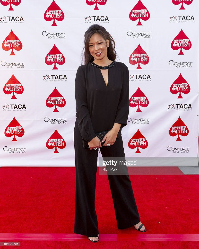 Poker player Michele Lau arrives at the 7th Annual Ante Up For Autism Event At The St. Regis Monarch Beach Resort on October 12, 2013 in Dana Point, California.