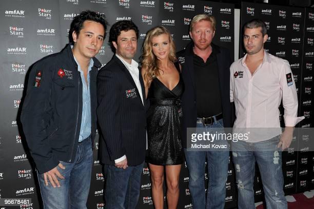 Poker pro Angel Guillen actor Carlos Bernard TV personality Joanna Krupa former tennis champion Boris Becker and poker pro Jose Ignacio Barbero...