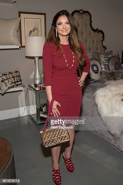 Poker Professional Beth Shak attends the 2015 Zarin Fabrics' Holiday Party at Zarin Fabrics on December 17 2015 in New York City