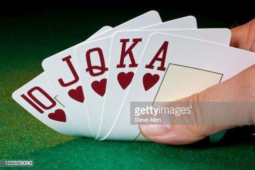 Poker - Royal Flush - Gambling : Stock Photo