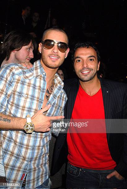 M Pokora and Kamel Ouali during NRJ 12 Birthday and NRJ HITS Launch Party at Cine Aqua in Paris France