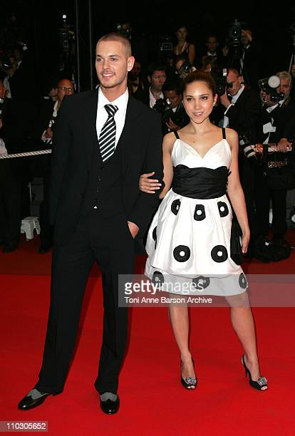 M Pokora and Leslie during 2007 Cannes Film Festival 'Death Proof' Premiere at Palais des Festival in Cannes France
