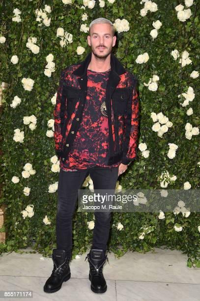 M Pokora attends the Balmain show as part of the Paris Fashion Week Womenswear Spring/Summer 2018 on September 28 2017 in Paris France