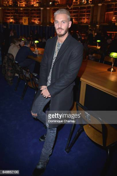 M Pokora attends the FENTY PUMA by Rihanna show as part of the Paris Fashion Week Womenswear Fall/Winter 2017/2018 on March 6 2017 in Paris France