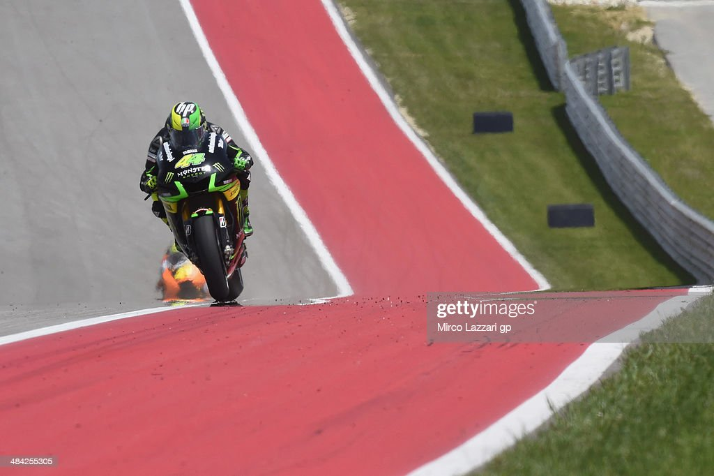 <a gi-track='captionPersonalityLinkClicked' href=/galleries/search?phrase=Pol+Espargaro&family=editorial&specificpeople=3211455 ng-click='$event.stopPropagation()'>Pol Espargaro</a> of Spain and Monster Yamaha Tech 3 heads down a straight during the MotoGp Red Bull U.S. Grand Prix of The Americas - Free Practice at Circuit of The Americas on April 11, 2014 in Austin, Texas.