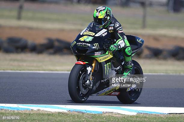Pol Espargaro of Spain and Monster Yamaha Tech 3 heads down a straight during the 2016 MotoGP Test Day at Phillip Island Grand Prix Circuit on...