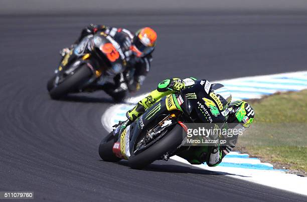 Pol Espargaro of Spain and Monster Yamaha Tech 3 leads the field during the 2016 MotoGP Test Day at Phillip Island Grand Prix Circuit on February 18...