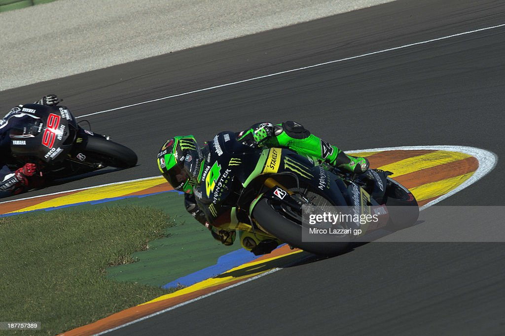 Pol Espargaro of Spain and Monster Yamaha Tech 3 rounds the bend during the MotoGP Tests in Valencia - Day 2 at Ricardo Tormo Circuit on November 12, 2013 in Valencia, Spain.