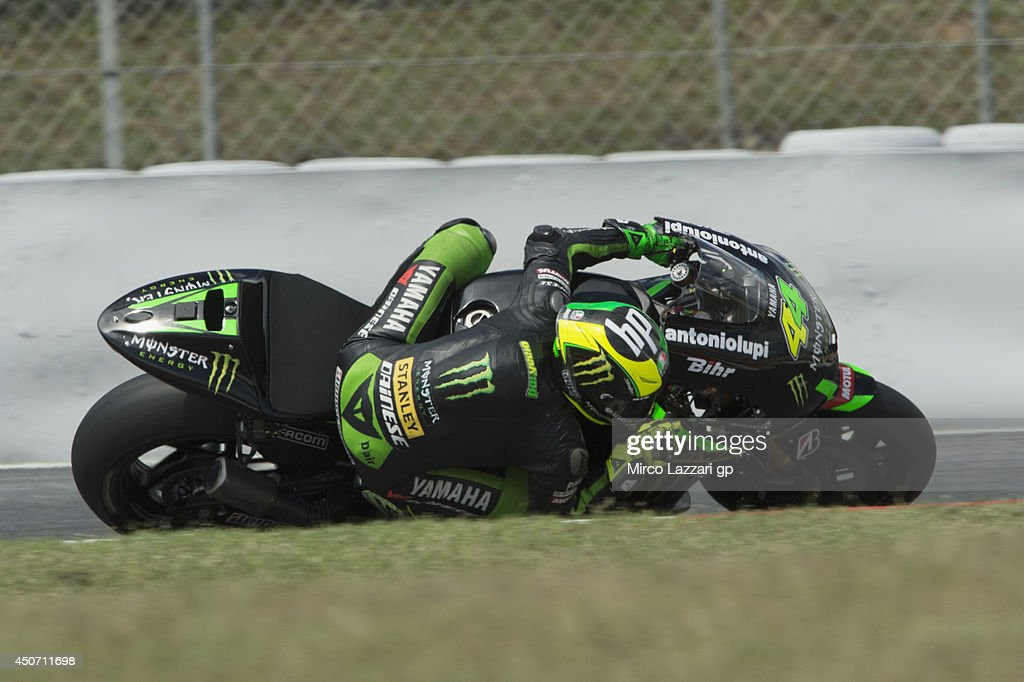 Pol Espargaro of Spain and Monster Yamaha Tech 3 rounds the bend during the MotoGp Tests In Montmelo at Circuit de Catalunya on June 16, 2014 in Montmelo, Spain.