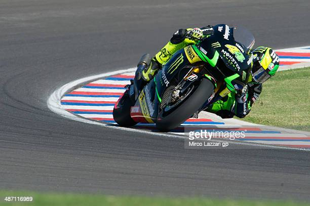 Pol Espargaro of Spain and Monster Yamaha Tech 3 rounds the bend during the MotoGP race during the MotoGp of Argentina Race at on April 27 2014 in...