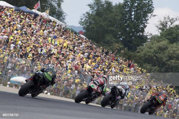 Pol Espargaro of Spain and Red Bull KTM Factory Racing leads the field during the MotoGP race during the MotoGp of Italy Race at Mugello Circuit on...