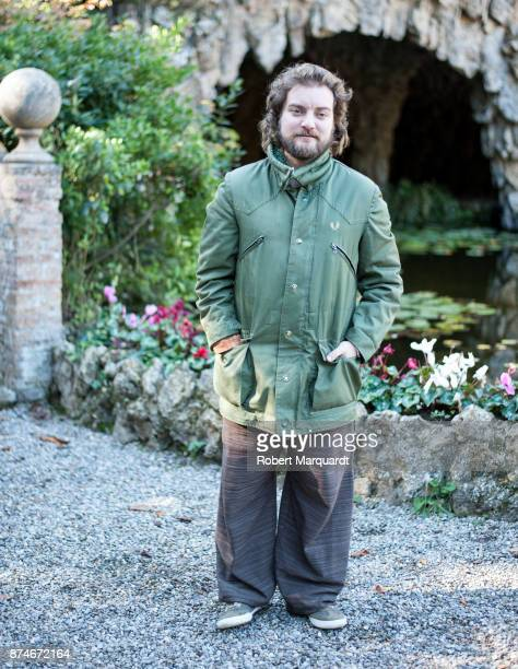 Pol Lopez poses for the press on the set of his latest film 'Matar al Padre' on November 15 2017 in Barcelona Spain