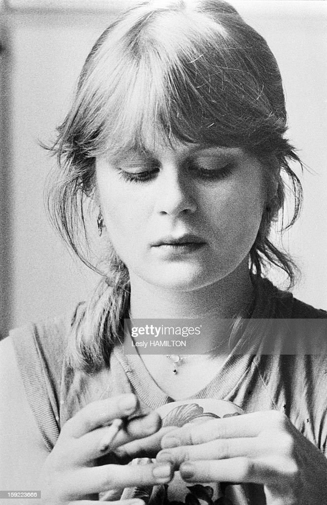 Pola Kinski, elder daughter of actor Klaus Kinski, in 1980 in France.