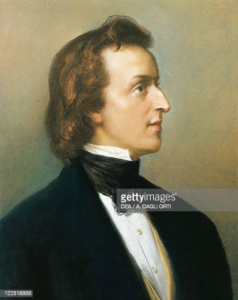 Poland 19th century Portrait of Frederic Francois Chopin Polish composer and pianist