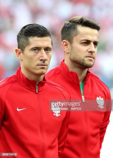 Poland captain Robert Lewandowski and goalkeeper Lukasz Fabianski