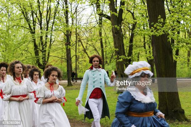 Poland celebrated its Constitution Day In the Royal Baths park actors wore costume pieces from the 18th century and reenacted historical scenes...