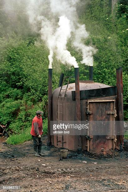 A charcoal burner at Bieszczady mountains