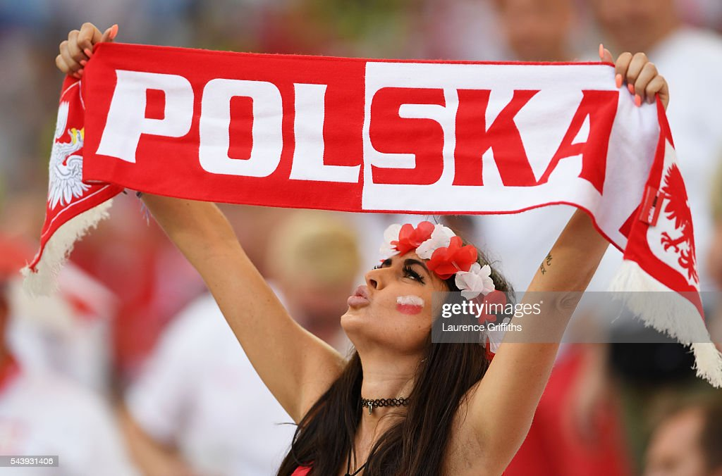 A Poland fan shows her support prior to the UEFA EURO 2016 quarter final match between Poland and Portugal at Stade Velodrome on June 30, 2016 in Marseille, France.