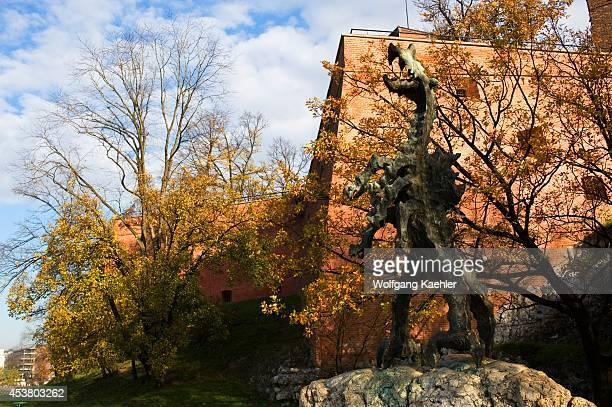 Poland Krakow Wawel Castle Dragon Statue