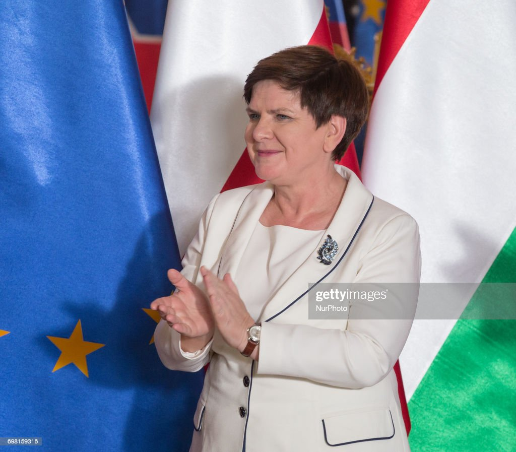 Poland PM Beata Szydlo at the Royal Castle in Warsaw, Poland on 19 June 2017
