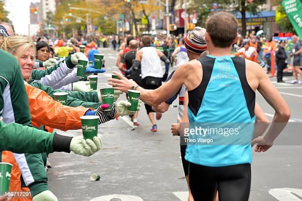 Poland Spring Supports The 2013 ING New York City Marathon on November 3 2013 in New York City