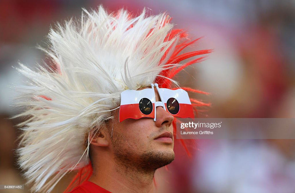 A Poland supporter enjoys the atmosphere prior to the UEFA EURO 2016 quarter final match between Poland and Portugal at Stade Velodrome on June 30, 2016 in Marseille, France.