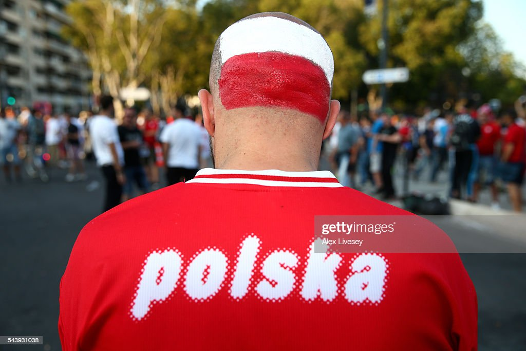 A Poland supporter is seen prior to the UEFA EURO 2016 quarter final match between Poland and Portugal at Stade Velodrome on June 30, 2016 in Marseille, France.
