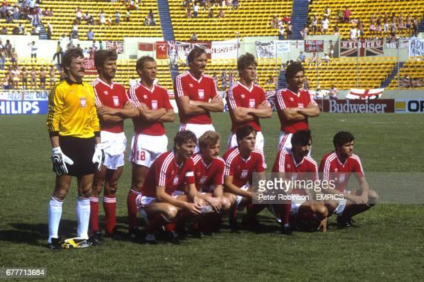 Poland Team Group Jozef Mlynarczyk Stefan Majewski Krzysztof Pawlak Roman Wojcicki Jan Urban and Marek Ostrowski Zbigniew Boniek Waldemar Matysik...
