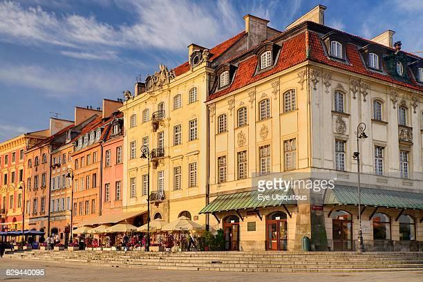 Poland Warsaw Another row of facades on Krakowskie Przedmiecie off Castle Square