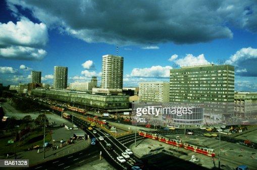 Poland, Warsaw, Marszalkow Street : Stock Photo