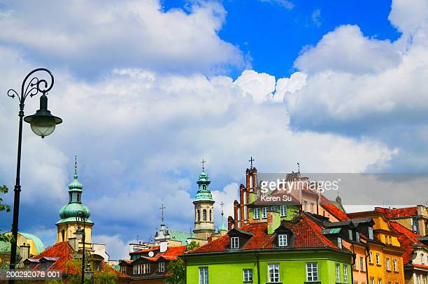 Poland, Warsaw, Old Town, historical buildings in Castle Square