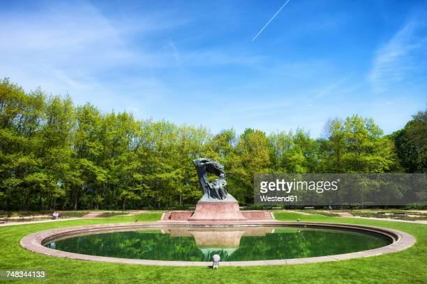 Poland, Warsaw, Royal Lazienki Park, Chopin monument