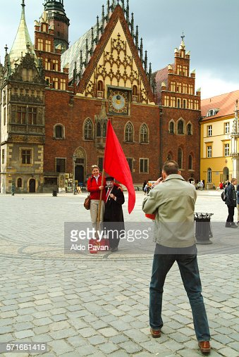 Poland, Wroklaw, Rynek square