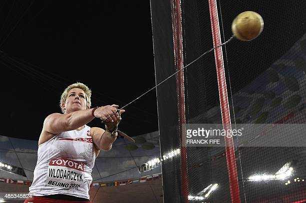 Poland's Anita Wlodarczyk competes in the final of the women's hammer throw athletics event at the 2015 IAAF World Championships at the 'Bird's Nest'...