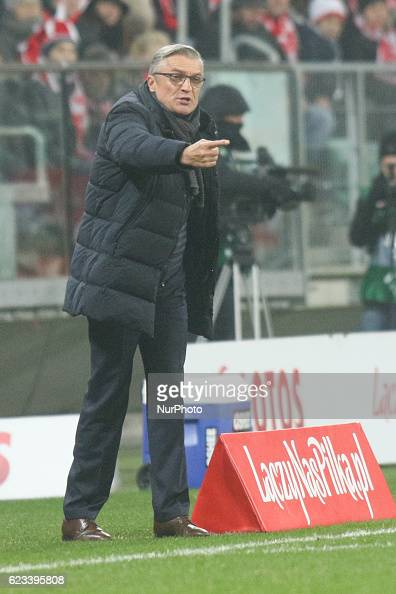 Poland's coach Adam Nawalka during the international friendly football match Poland vs Slovenia on November 14 2016 in Wroclaw