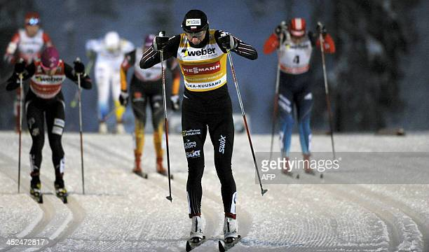 Poland's Justyna Kowalczyk competes to win the women's cross country skiing sprint competition of the FIS World Cup Ruka Nordic Opening in Kuusamo...