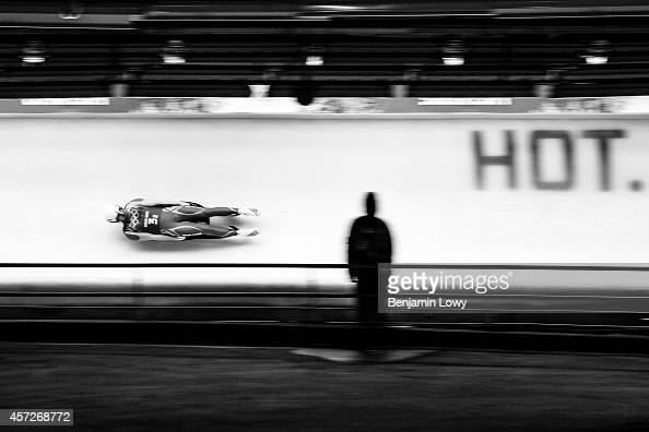 Poland's Maciej Kurowski competes in the Luge Team Relay at the Sliding Center Sanki during the Sochi Winter Olympics on February 13 2014