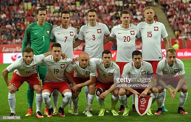 Poland's national team goalkeeper Wojciech Szczesny Arkadiusz Milik Artur Jedrzejczyk Lukasz Piszczek Kamil Glik Jakub Blaszczykowski Piotr Zielinski...