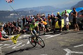Poland's Rafal Majka rides in a breakaway as fans cheer during the 160 km fifteenth stage of the 103rd edition of the Tour de France cycling race on...