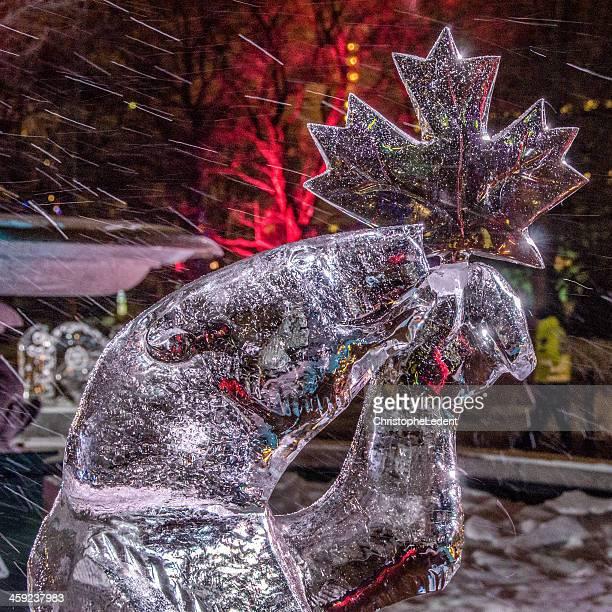 Polar Bear Ice Sculpture (Winterlude)