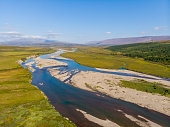 Polar Ural, Big Hadata River, view from above