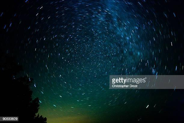 Polaris and a starry night