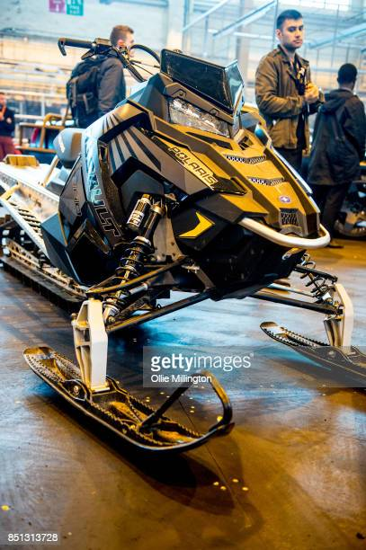 Polaris RMX 800 Assault snowmobile used on screen in in The Fate of The Furious seen during the 'Fast Furious Live' media launch day event which...