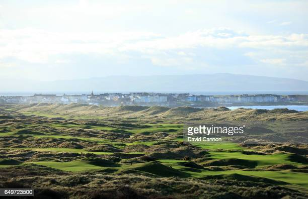 Polarising filter used A general view looking over the Dunluce Course at Royal Portrush Golf Club the host club for the 2019 Open Championship with...