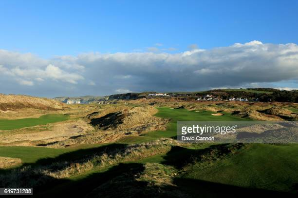 Polarising filter used and a small time lapse camera pole removed behind the green A view of the new 435 yards par 4 eighth hole designed by Martin...