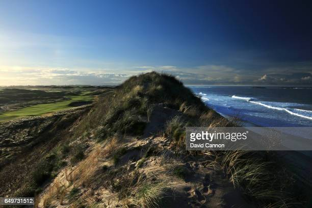 Polarising filter used in this image A view from the top of the sand dunes of the new 572 yards par 5 seventh hole designed by Martin Ebert on the...